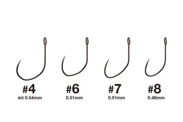 Varivas Canvas Hook sizes